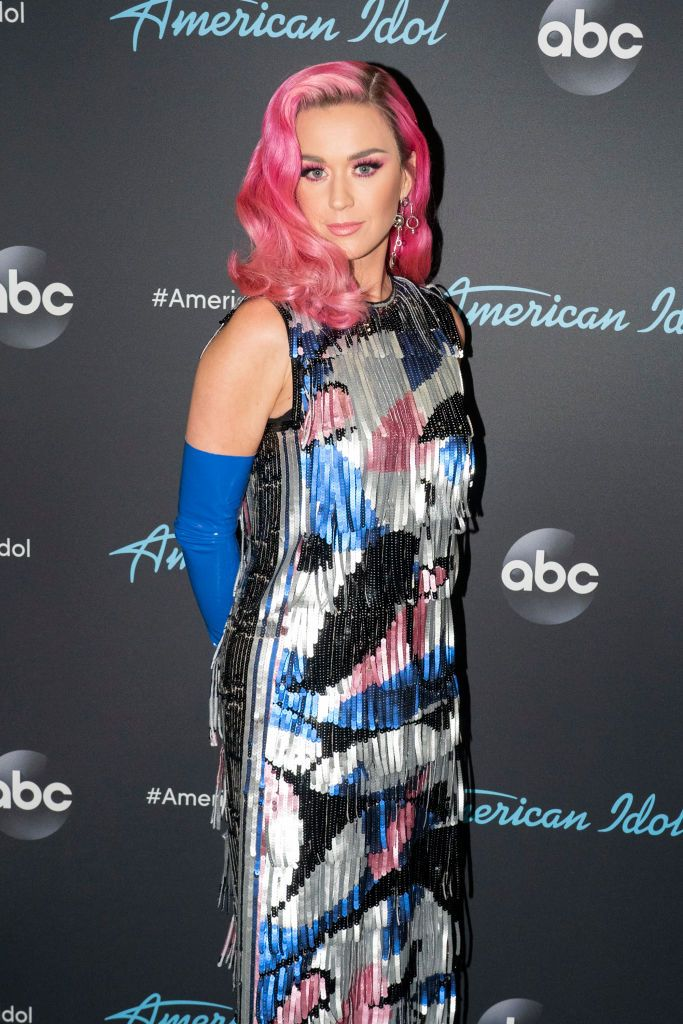 Katy Perry on the red carpet as ABC's American Idol live show begins in Los Angeles