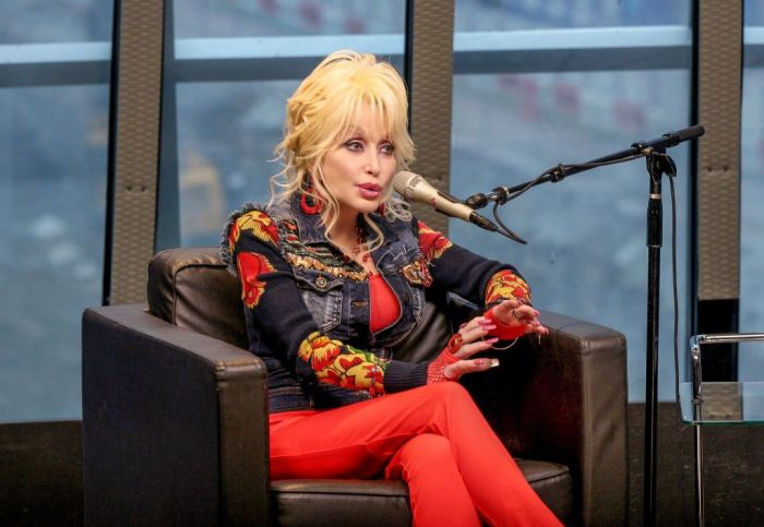 Dolly Parton speaks during SiriusXM presents Dolly Parton On Kids Place Live at Nashville Music City Theatre On October 9, 2017 on October 9, 2017 in Nashville, Tennessee.