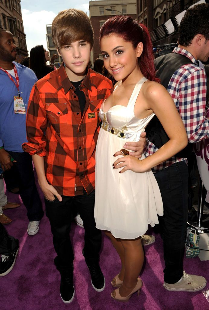 Justin Bieber and Arianna Grande back in 2014
