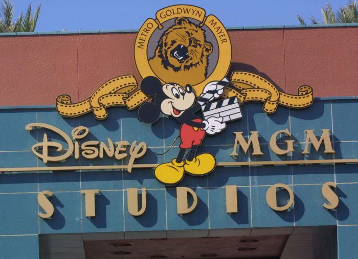 The Disney-MGM Studios logo sits on a building November 11, 2001 in Orlando, Florida