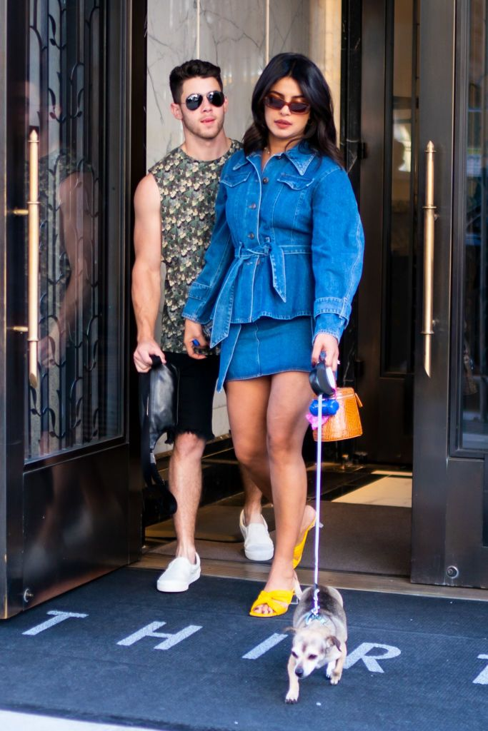 Nick Jonas and Priyanka Chopra are seen in Tribeca on August 31, 2019