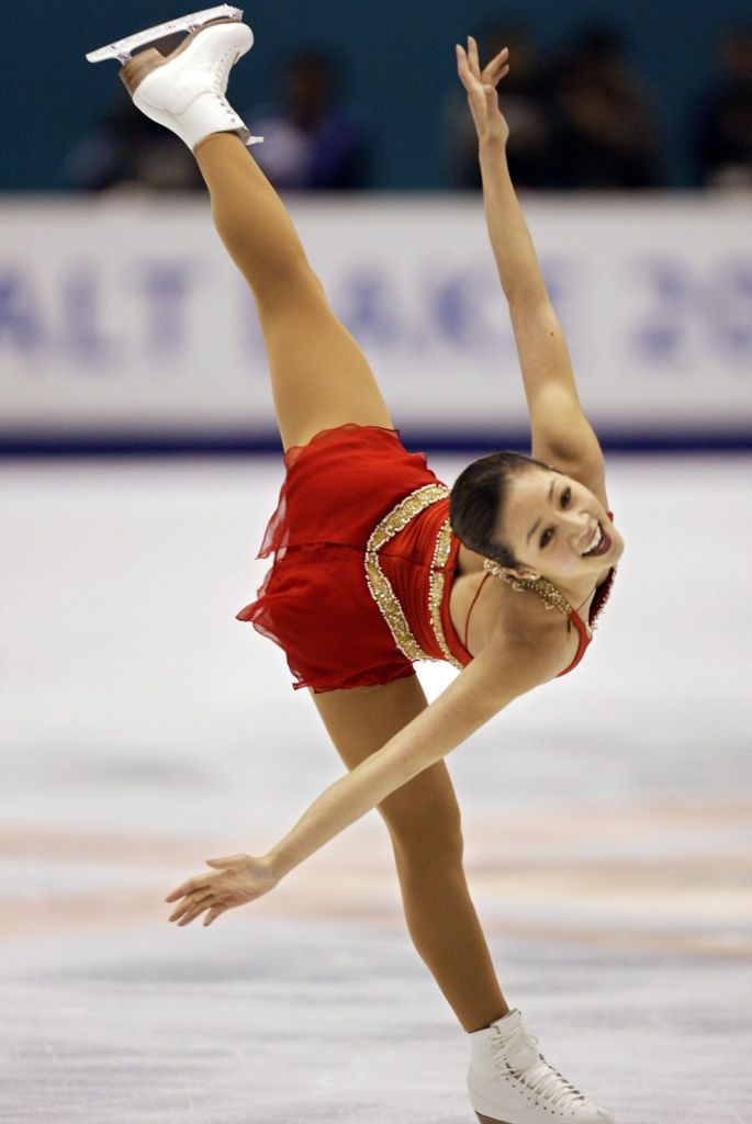 US Michelle Kwan performs her women's free program during the figure skating event at the Olympic Ice Center
