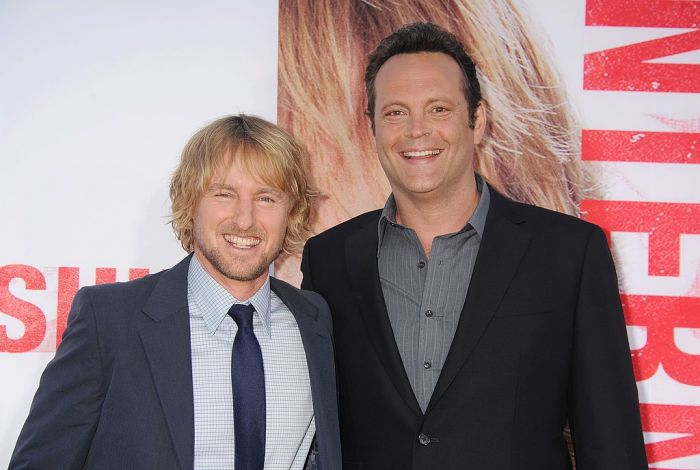 Actors Owen Wilson and Vince Vaughn arrive at 'The Internship' - Los Angeles Premiere at Regency Village Theatre