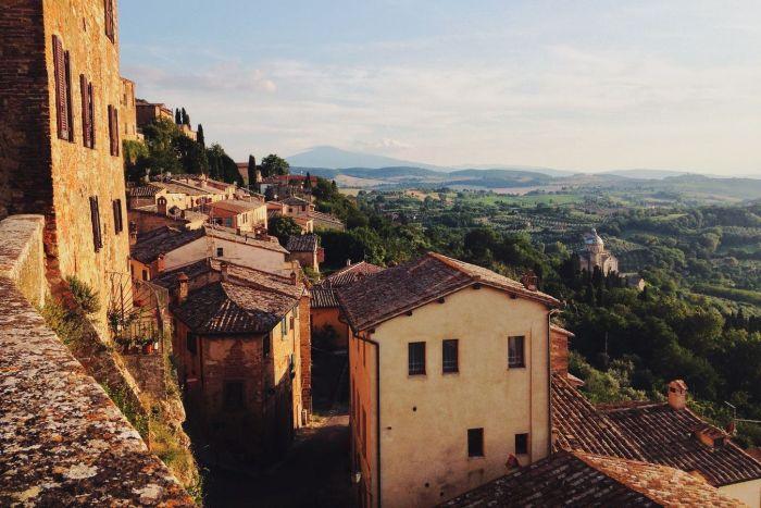Old village on hillside