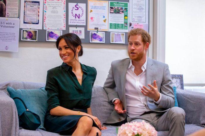 Prince Harry talking