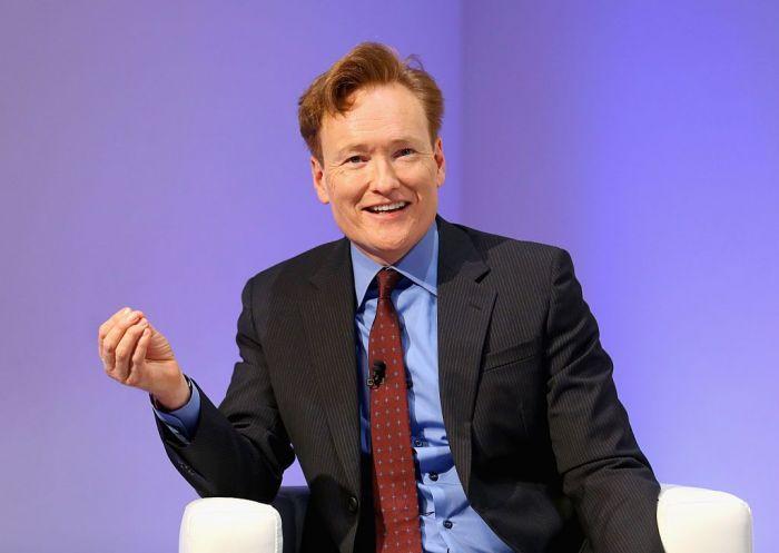 Conan O'Brien Purple Background