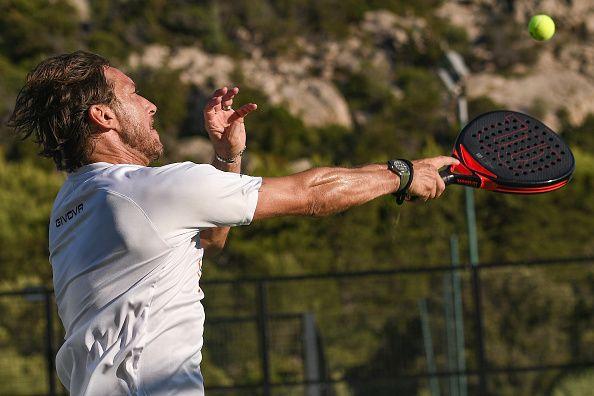 Padel Playing Francesco Totti