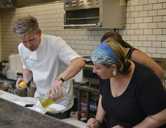 Gordon Ramsay Cooking With Olive Oil